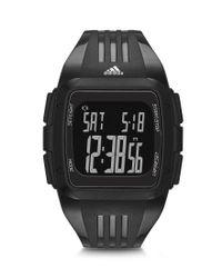 Adidas Originals - Black Performance Digital Duramo Polyurethane Strap Stainless Steel Watch for Men - Lyst