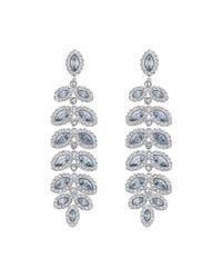 Swarovski | Blue Baron Crystal Pavé Chandelier Statement Earrings | Lyst