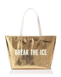 kate spade new york   Metallic Break The Ice Cooler Bag   Lyst