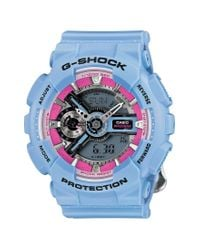 G-Shock - Blue S-series Floral Ana-digi Watch - Lyst