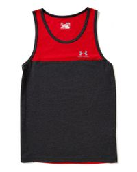 Under Armour | Black Color Block Tri-blend Tank for Men | Lyst
