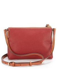 Dooney & Bourke - Red Ginger Cross-body Pouchette - Lyst