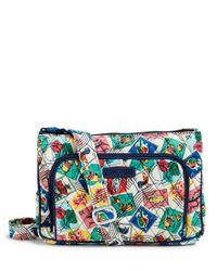 Vera Bradley | Blue Little Hipster Cross-body Bag | Lyst