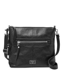 Fossil | Black Dawson Leather Crossbody | Lyst
