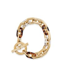 Michael Kors | Metallic City Link Toggle Bracelet | Lyst