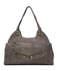 Patricia Nash | Gray Distressed Leather Collection Ergo Satchel | Lyst