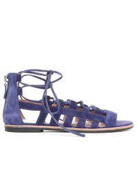 Franco Sarto - Blue Appalachia Ghillie Sandals - Lyst