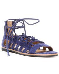 Franco Sarto | Blue Appalachia Ghillie Sandals | Lyst