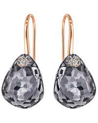 Swarovski - Gray Parallele Drop Earrings - Lyst