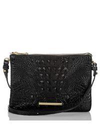 Brahmin | Black Melbourne Collection Perri Croco-embossed Cross-body Bag | Lyst