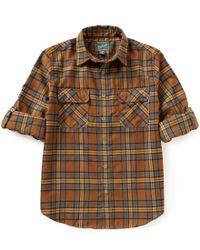 Woolrich | Brown Long-sleeve Hiker ́s Trail Plaid Woven Shirt for Men | Lyst