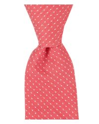 Original Penguin | Red Victorian Dot Skinny Tie for Men | Lyst