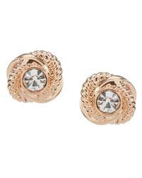 kate spade new york | Metallic Infinity & Beyond Gold Plated Knot Stud Earrings | Lyst
