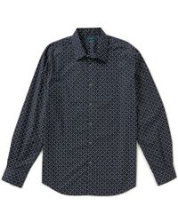 Perry Ellis | Multicolor Non-iron Long-sleeve Repeating Floral Print Woven Shirt for Men | Lyst