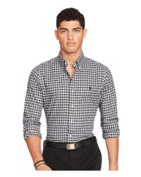 Polo Ralph Lauren | Black Slim-fit Plaid Twill Shirt for Men | Lyst