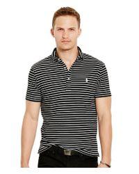 Polo Ralph Lauren | Black Horizontal Striped Featherweight Polo Shirt for Men | Lyst