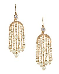 kate spade new york | Metallic Pearls Of Wisdom Chandelier Earrings | Lyst