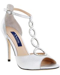 Nina - Natural Cathy Swarovski Dress Sandals - Lyst