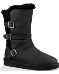 UGG | Black Becket Triple-buckle Boot | Lyst