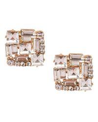 Belle By Badgley Mischka - Metallic Baguette Stud Earrings - Lyst