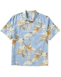 Tommy Bahama | Blue Big & Tall Guava Garden Print Short-sleeve Silk Shirt for Men | Lyst
