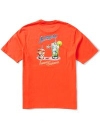 Tommy Bahama | Orange Big & Tall Sip Line Jersey Graphic Tee for Men | Lyst