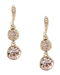 Givenchy - Metallic Silk Round Drop Earrings - Lyst