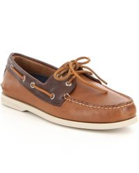 Sperry Top-Sider | Brown Men ́s Authentic Original 2-eye Sarape Boat Shoe for Men | Lyst