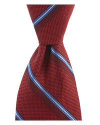 Brooks Brothers | Textured Split Sidewheeler Stripe Traditional Silk Tie for Men | Lyst