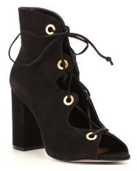 Steve Madden | Black Carusso Lace-up Booties | Lyst