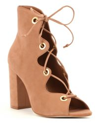 Steve Madden | Brown Carusso Lace-up Booties | Lyst