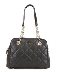 kate spade new york | Black Emerson Place Collection Dewy Quilted Satchel | Lyst