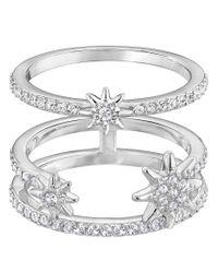 Swarovski - Metallic Fizzy Ring - Lyst