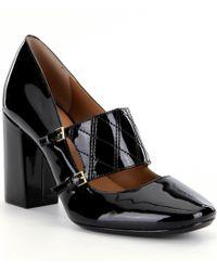 Calvin Klein | Black Casilla Block Heel Pumps | Lyst