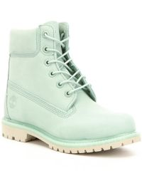 Timberland | Green 6 Inch Premium Waterproof Leather Lace-up Boots for Men | Lyst