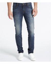 William Rast | Blue Hollywood Slim Straight Jeans for Men | Lyst