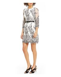 Eliza J | White Bell Sleeve Lace Fit-and-flare Dress | Lyst
