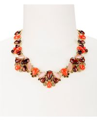 kate spade new york - Multicolor Burst Into Bloom Statement Necklace - Lyst