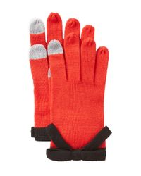 kate spade new york | Red Bow Gloves | Lyst