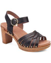 Dansko - Black Dawson Sandals - Lyst
