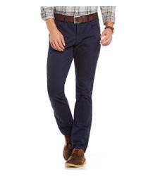 Original Penguin | Blue Slim-fit Flat-front Stretch 5-pocket Chino Pants for Men | Lyst