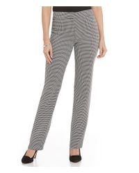 Kasper | Black Houndstooth-print Slim-fit Flat Front Pants | Lyst