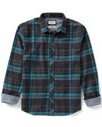 Billabong | Gray Coastline Flannel Plaid Long-sleeve Shirt for Men | Lyst