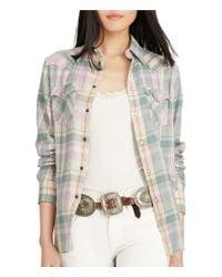Polo Ralph Lauren | Multicolor Plaid Cotton Flannel Shirt | Lyst