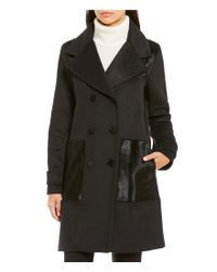Zac Posen | Black Hawthorne Double Breasted Tailored Wool Coat | Lyst
