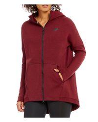 Nike | Red Sportswear Tech Fleece Front Zip Hoodie Jacket | Lyst