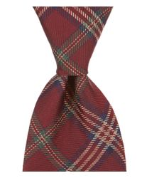 Brooks Brothers | Red Tartan Plaid Traditional Silk Tie for Men | Lyst