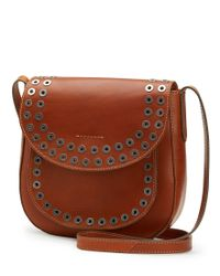 Frye | Brown Cassidy Large Grommet-detail Cross-body Bag | Lyst