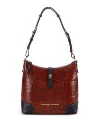 Dooney & Bourke | Red Denison Collection Hobo Bag | Lyst
