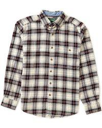 Woolrich | Black Long-sleeve Trout Run Plaid Flannel Shirt for Men | Lyst
